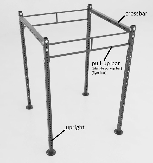 Crossfit free standing rack with titles