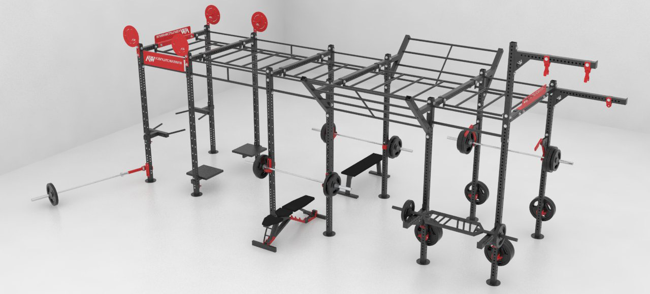 Crossfit Rigs and Rags with weights and accessories